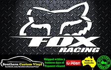 Fox Racing Car Window Decal