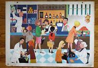 carte d'école - affiche scolaire 1960 - l' épicerie et le carnaval de nice