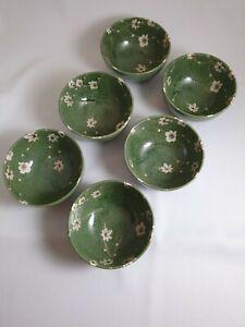 6 x Chawan Teeschalen, Müslischalen, Matcha Schalen Grün/Gelb      * NEU *