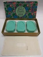 Vintage NOS Avon Bird of Paradise Bar Soap - 3 Soaps w/ Original Box & Packaging