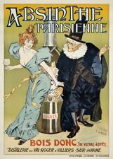 French//Swiss 1900/'s 250gsm Alcohol Poster ABSINTHE PROHIBITION NOTICE