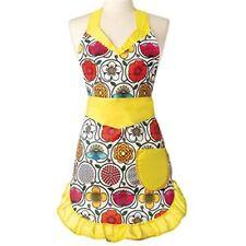 Vigar Frida Apron - vibrant colours - yellow trim