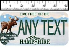 CUSTOM PERSONALIZED 2 HOLE BICYCLE STATE LICENSE PLATE-NEW HAMPSHIRE MOOSE