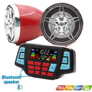 USB Bluetooth Waterproof Motorcycle Audio Radio Sound System Stereo Speakers MP3