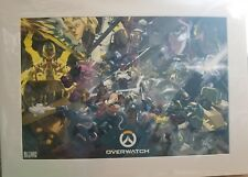 Blizzcon 2017 OVERWATCH exclusive limited edition Art print Matted free dom ship