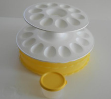 Tupperware Pie Stackable & 2-Tier Egg~Strawberries~Appetizer Server Tray New