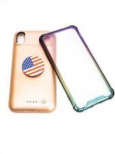 Iphone XS Max External Battery Case Protective Case Popsocket Bundle
