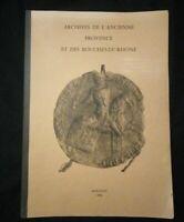 Revue :Archives de l'ancienne provence et des bouches-du-rhône Hildesheimer