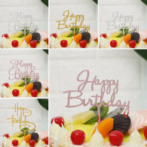 Baby Shower Gifts Happy Birthday Party Supplies Cake Topper Acrylic Decor--