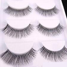 5Pairs Long Cross False Eyelashes Makeup Natural Fake Sparse Black Eye Lashes