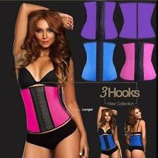 Alacki Latex Sports Waist Trainer Long Torso Cincher 3 Hook Rows 9 Steel Boned