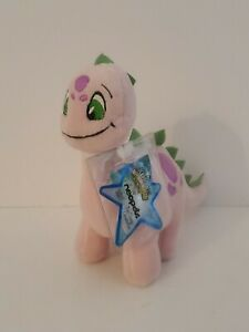 """Neopets Keyquest Series 7 Pink Chomby 6"""" Plushie 2008 New w/ Code Jakks Pacific"""