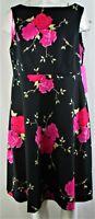 Betsey Johnson Women's Black Plus Size Floral Printed Shift Dress