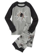 NWT/NEW BOY GYMBOREE HALLOWEEN SHOP SPIDER WEB TWO PIECE GYMMIES PJ'S PAJAMAS 2T