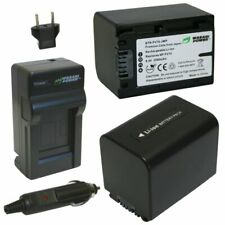 Wasabi Power Battery (2-Pack) and Charger for Sony NP-FV70 (2500mAh)