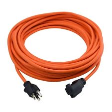 Clear Power 50 ft Indoor/Outdoor Extension Cord, 3 Prong Grounded Plug, Cp10117
