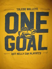 TOLEDO WALLEYE T SHIRT Minor League Hockey ECHL One Goal Gold Yellow Adult SMALL