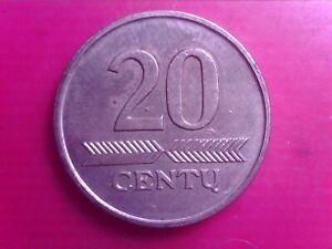 LITHUANIA  20   CENTU 1997     JAN14