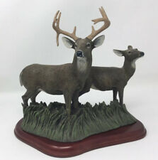 Deer Buck Sculpture Danbury Mint Fall Retreat Bob Travers- Crack in antler