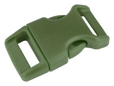 100 - 5/8 Inch Military Green Contoured Side Release Plastic Buckle Closeout