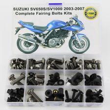 For Suzuki SV650 SV1000 2003-2007 Fairing Bolts Screws Fasteners Kit Titanium