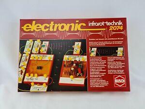 Busch electronic Infrarot Technik 2074 Baukasten W. Germany Rarität
