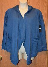 Womens Blue American Living Hooded Jacket Size Medium NWT NEW