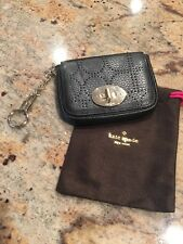 Kate Spade Black Leather Keychain Card Wallet- used 5x- EXCELLENT CONDITION
