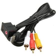 Toma Adaptador USB AUX Jack 3.5mm Coche Salpicadero 3 RCA Extensión Montada