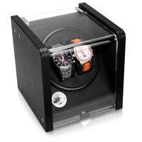 Uhrenbeweger Uhrendreher für 2 Automatikuhren 17,5x18x18cm 5 Modi Uhrenbox