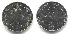 "50 Pence Falkland Inseln 1987 Cu-Ni ""Pinguine"""