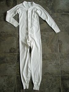 Vintage USA-Made Medium 38-40 Union Suit Long Johns Underwear 100% Cotton Knit