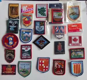 16  Woven -  Embroidered - cloth   PATCHES     UK  USA  SPAIN  CANADA