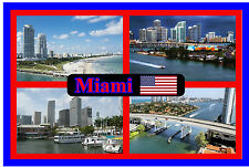 MIAMI, FLORIDA, USA - SOUVENIR NOVELTY FRIDGE MAGNET - BRAND NEW - GIFT / XMAS