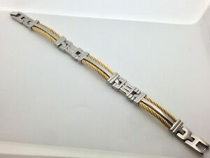Men's Bracelet with Two Tone Titanium