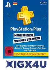 PlayStation Plus Live Card PSN Network 365 Tage 1 Jahr nur Card PSN 365 DE Store