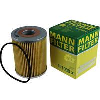 Original MANN-FILTER Ölfilter Oelfilter H 1038 x Oil Filter