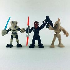 3pcs Playskool Star Wars Galactic Heroe General Grievous Darth Maul Battle Droid