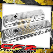 1958-86 Chevy Small Block 350 Tall Steel Valve Covers - Chrome W/ 350 Logo