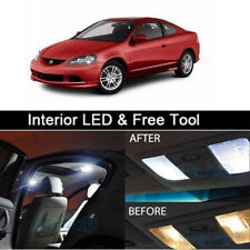 8x White LED Lights Interior Lamp Package kit for 2002-2006 Acura RSX+Free Tool