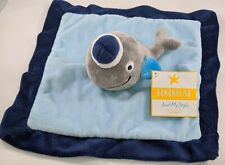 Bananafish Sailor WHALE Baby Lovey Blue Security Blanket Plush