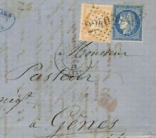 FRANCE CLASSIC 1873 Cover Scarce 10c Bistre Scott.54 cat $140+ {samwells}BL284
