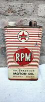 Vintage Caltex RPM Premium Heavy Duty Motor Oil Tin Can Automobila Collectible