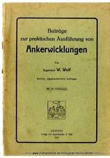 Contributions à la pratique de l'exécution de Ancre enroulements V. Walter Wolf 1917