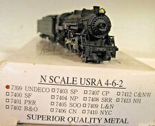 N MODEL POWER 7399  METAL USRA UNDECorated 4-6-2 PACIFIC Light Steam Locomotive