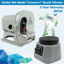 Dental Wet Model Trimmer Abrasive Machine 500w With 4 Round Vibrator Us Stock
