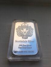 1oz Scottsdale Silver .999 Fine SILVER PLATED Bullion Bar