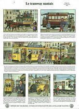 Images de Jean Bruneau le tramway nantais 1983 office de tourisme de Nantes
