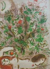 """MARC CHAGALL BIBLE """"Paradise"""" HAND NUMBERED LITHOGRAPH M232 Limited Edition"""