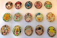 Disney Pin HKDL Mosaic Stained Glass Collection Mystery tin 15 pins Complete Set